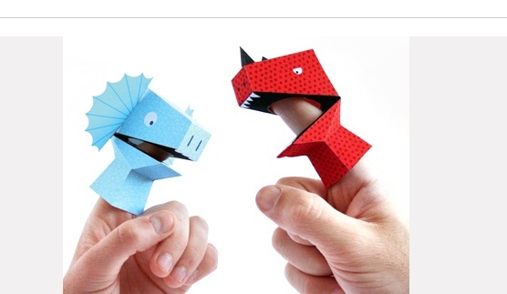 Pin 7 - dec 7 - Dino Finger Puppets via Cookware For Kids